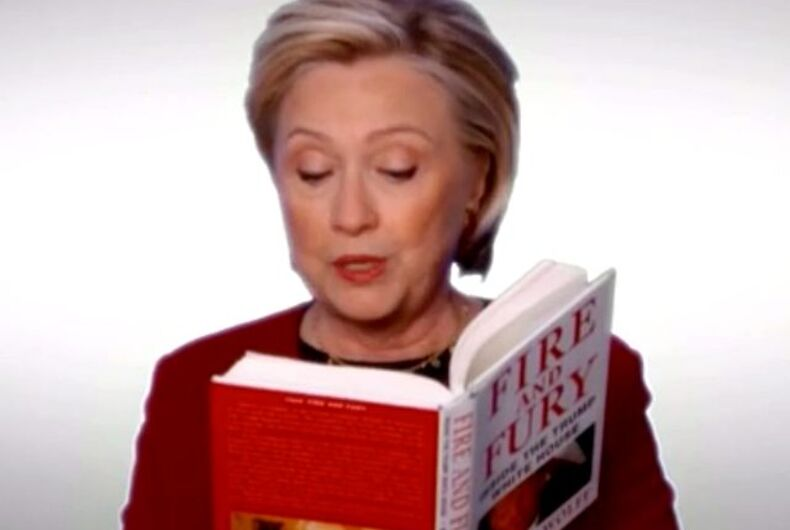 Hillary Clinton trolled Trump at the Grammys & conservatives' feelings are hurt