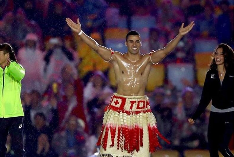 Tonga's super hot 2016 Olympics flag bearer has qualified for the winter games as a skier