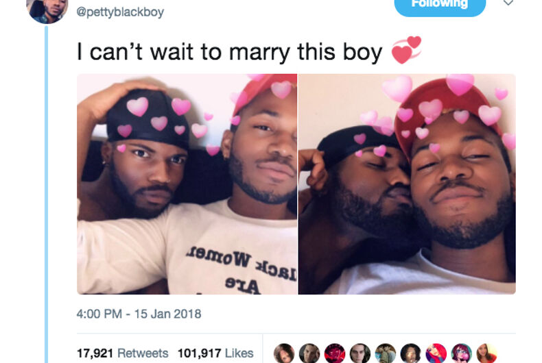 After he kissed his boyfriend & posted it on Twitter, antigay creeps went off the rails