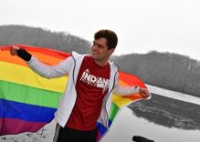 Indiana University's gay diver is in a milestone meet this weekend