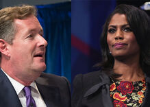 The irony of Piers Morgan claiming offense at Omarosa calling him an antigay slur