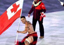Tonga's flag bearer sexed up the freezing Olympics opening ceremony