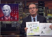 John Oliver's gay bunny book is a runaway success. Mike Pence's bunny book isn't.