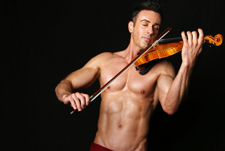 Meet Matthew Olshefski, the concert violinist with a heart of gold & pecs of steel