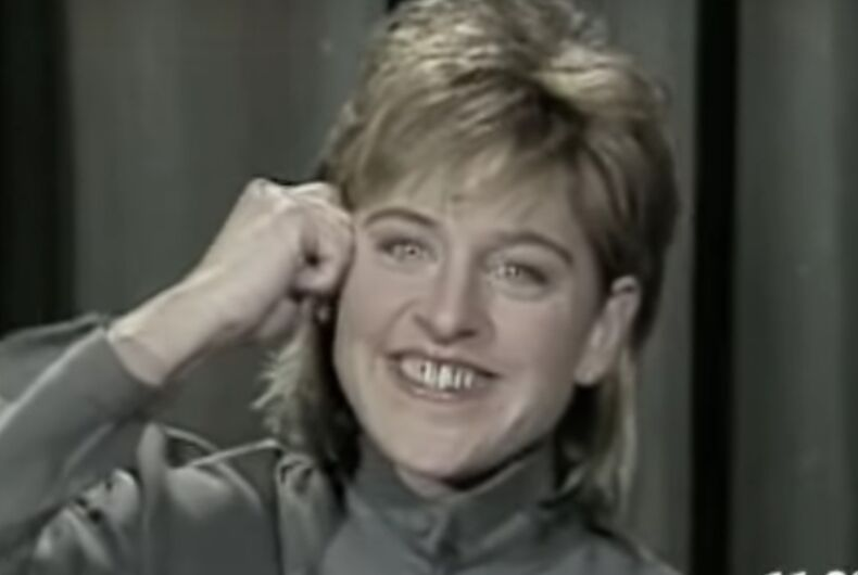 Ellen reveals the tragic story behind her most famous stand up act