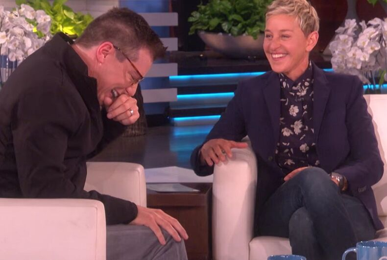 Ellen & Sean Hayes have a 'Battle of the Gays'