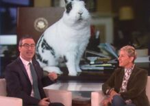 Ellen joins John Oliver's gay bunny campaign against Mike Pence