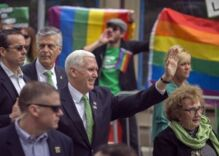Mike Pence says he's 'heartened' by his hometown's Pride festival
