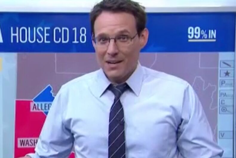 The Democrat won in Pennsylvania last night, but this gay journalist stole the show