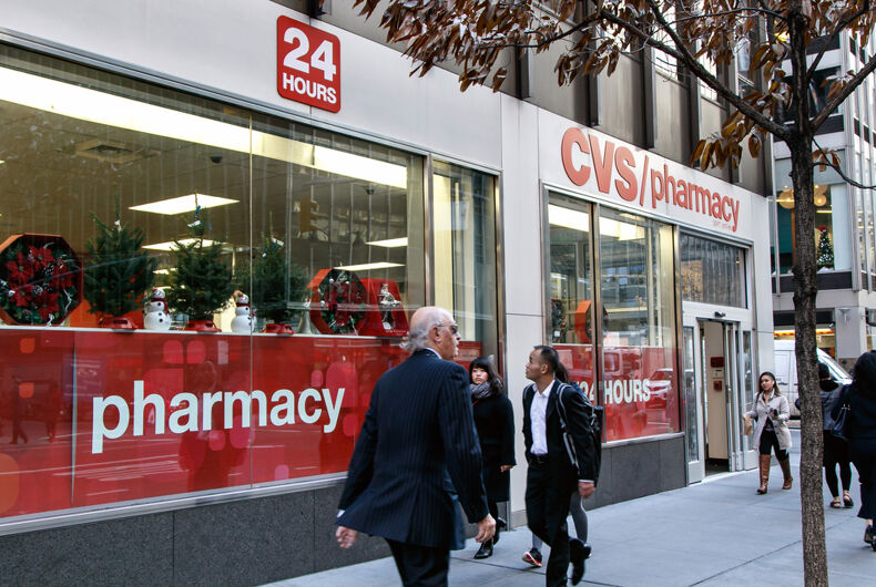 A CVS pharmacy store front