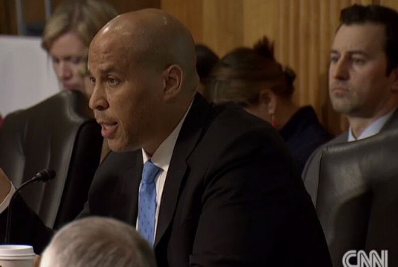 Cory Booker annihilates Mike Pompeo during confirmation hearing: 'Is being gay a perversion?'