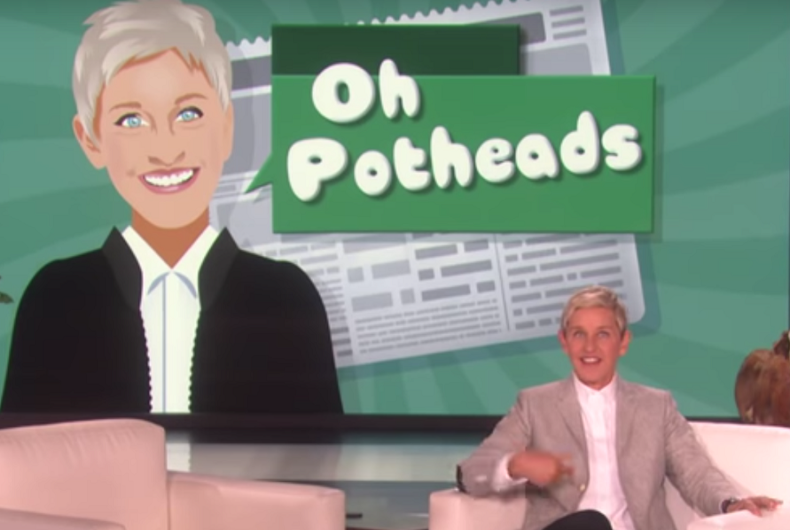 420: Ellen is 'celebrating' the stoner's high holiday like only she would