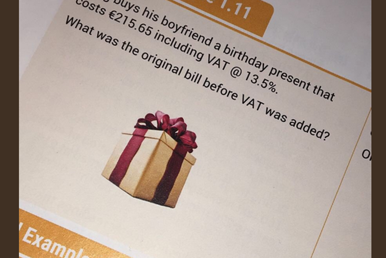 Twitter loved this gay math problem for all the right reasons