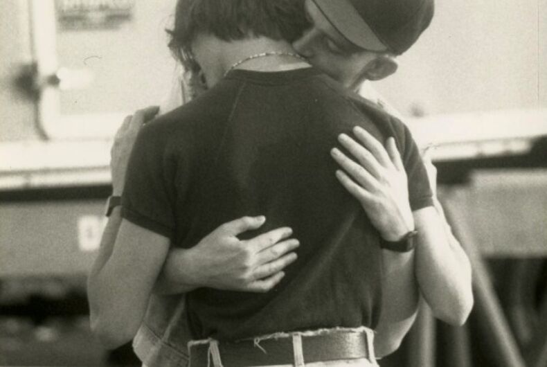 Pride in Pictures 1990: A private embrace in a public parade