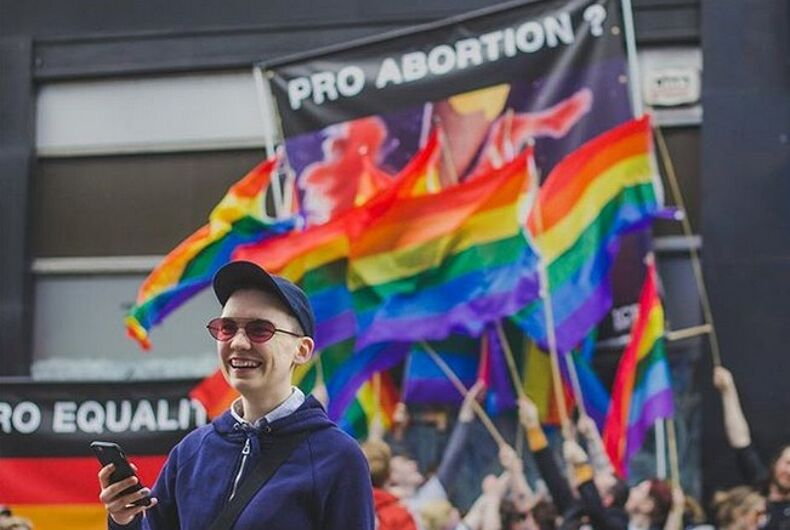 LGBTQ people are using pride flags to fight abortion radicals now & it is brilliant