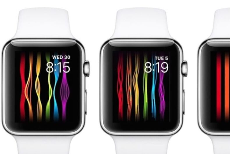 3 versions of Apple's new pride-themed watch face