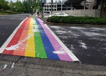 Rainbow crosswalks were vandalized in 4 different cities recently