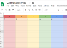 There's a secret Pride feature hiding in your Google spreadsheet