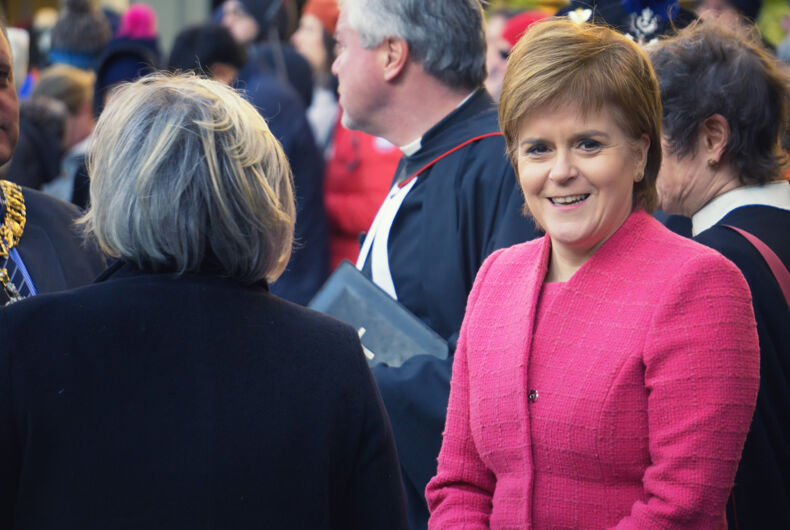 NOVEMBER 29, 2017 : Nicola Sturgeon attending a service for Dr Elsie Inglis's memorial in St Giles Cathedral in Edinburgh.