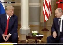 Trump winks at new bestie Vladimir Putin as bromance blossoms