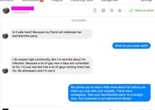 Gay club's epic take down of a homophobic bachelorette party organizer is delicious