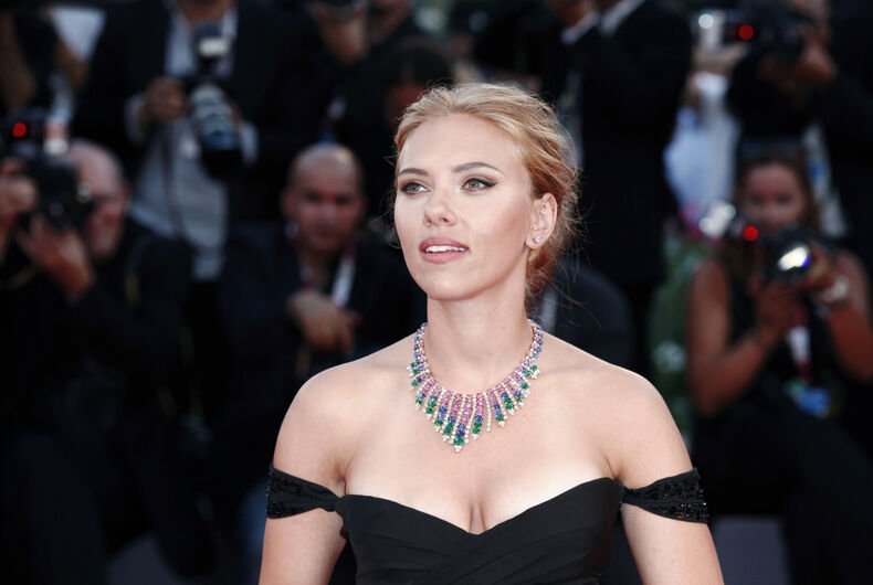 Actress Scarlett Johansson attends 'Under The Skin' Premiere during the 70th Venice Film Festival on September 3, 2013 in Venice, Italy.