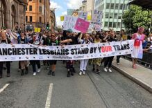Joint lesbian & trans group lead Manchester Pride Parade to show solidarity