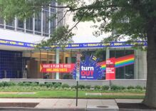 HRC updates rainbow flag to include brown & black stripes at DC headquarters