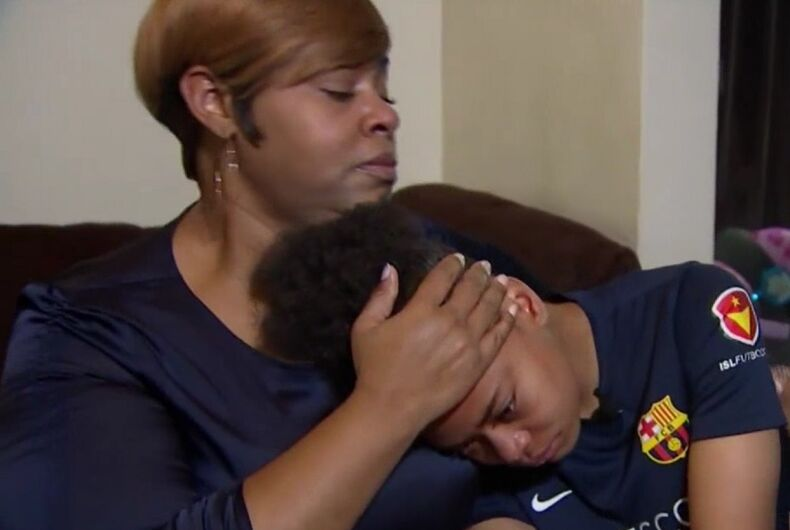 Police didn't arrest a lesbian girl's adult attackers. Now her mom is stepping up.
