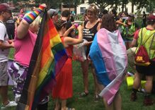 LGBTQ people danced while yesterday's white supremacist rally in DC fizzled
