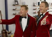 Watch James Corden & Neil Patrick Harris deliver singing telegrams