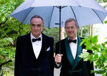 The queen of England's gay cousin got married. No one from the royal family attended.