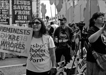 Court rules antigay protesters rights were violated when police asked them to cross the street