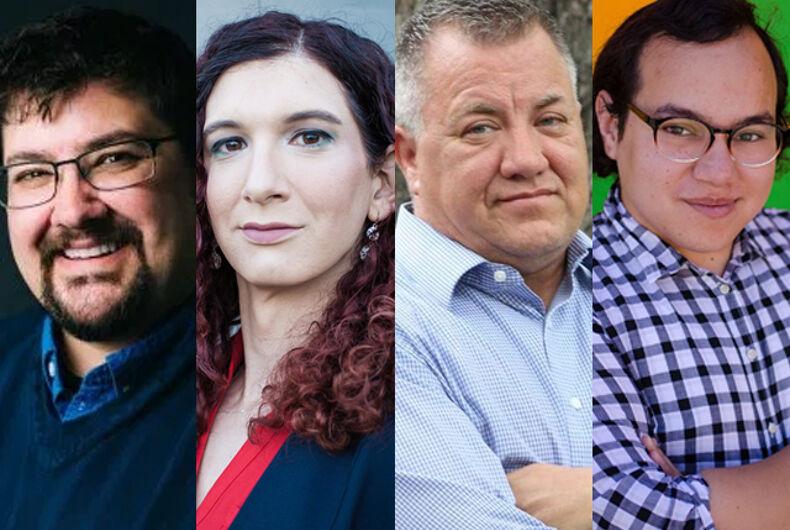State candidates Everett Maroon, Brianna Titone, Finnigan Jones, and Amelia Marquez