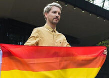 A sea of rainbow flags fly after anti-LGBTQ arson in Lithuania