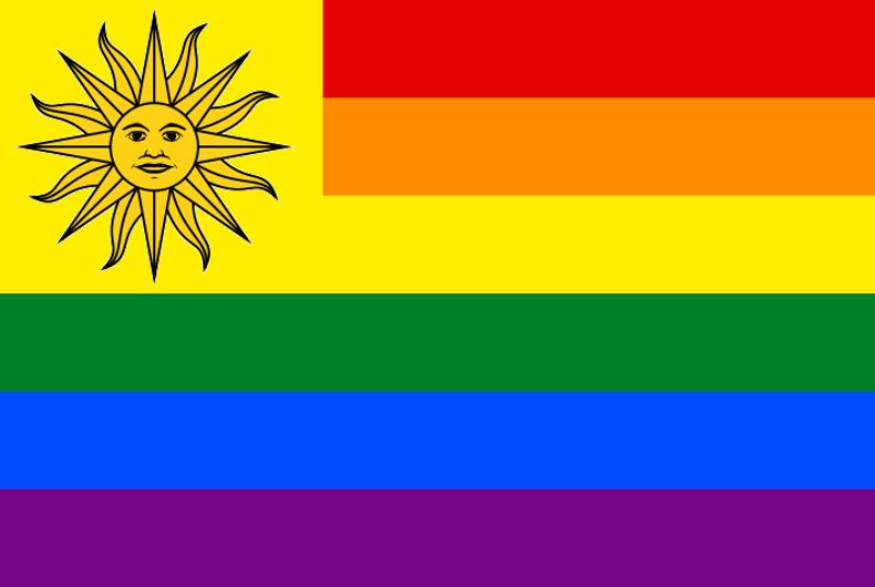 A Uruguayan pride flag.