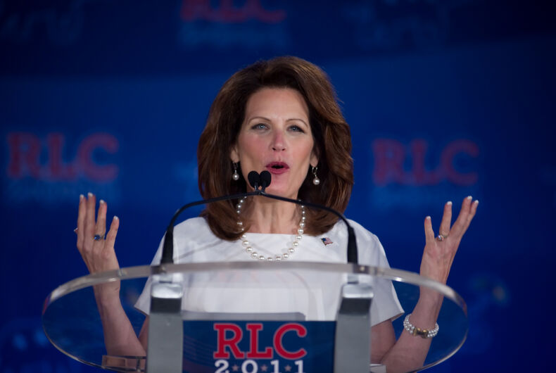 Presidential candidate Michele Bachmann addresses the Republican Leadership Conference on June 17, 2011 at the Hilton Riverside New Orleans in New Orleans, LA.