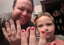 This amazing dad put on nail polish to support his 5-year-old son