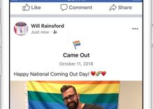 Here's how to add Facebook's new 'came out' life event to your timeline