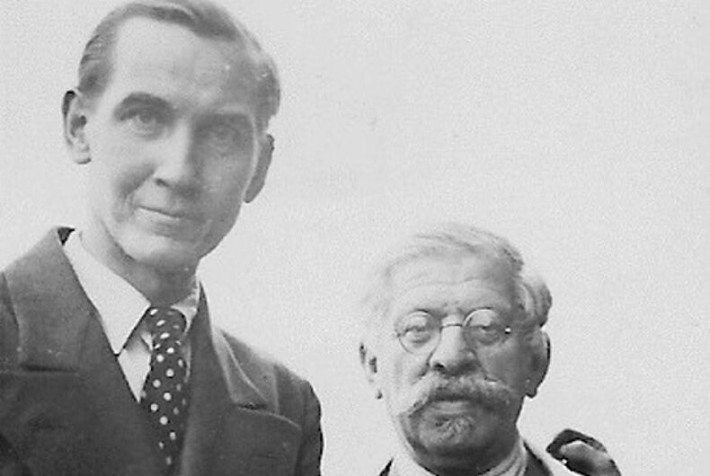 (L-R) Karl Giese and Magnus Hirschfeld