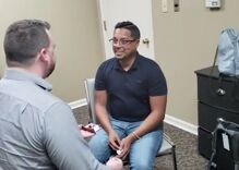 This deaf man got his hearing back. The first thing he heard was his partner proposing.