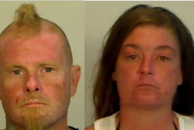 Christopher Yarema and Stephanie Lynn Burnham allegedly attacked two gay men because they didn't like their Speedos.