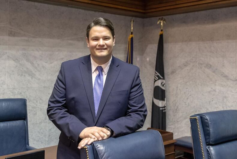 Indiana's first out legislator, state senator J.D. Ford, was sworn in on November 20, 2018.
