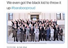 His classmates gave a Nazi salute, but this gay student didn't go along. Now he's speaking out.