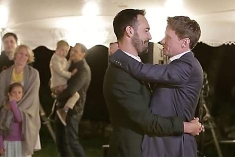 Noah and PJ have their first dance as a married couple