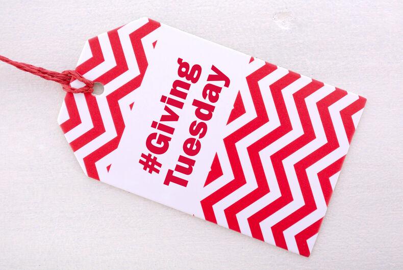 #GivingTuesday on a tag