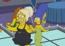 This is what Homer Simpson looks like after RuPaul's drag makeover