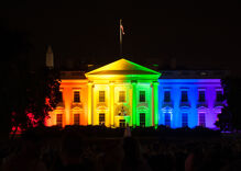 What happened inside the White House on the day the Supreme Court legalized same-sex marriage?