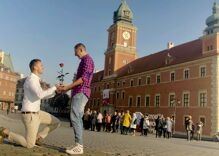 A gay couple publicly proposed 100 times in an Eastern Bloc country. What happened is incredible.