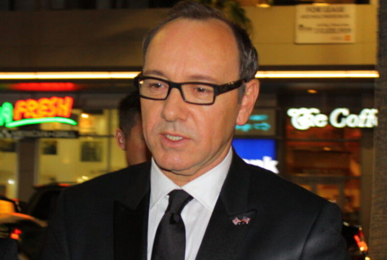 Kevin Spacey with glasses